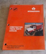 INTERNATIONAL CONSTRUCTION TRUCK PARTS CATALOG
