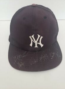 1996 NY YANKEES World Series Autographed NY Cap, JETER, BOGGS.. JSA Full letter