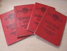Military book Soldbuch Wehrpass USSR Soviet Union военный билет red army origina