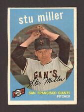 1959 TOPPS STU MILLER #183 - San Francisco Giants Baseball Pitcher Card