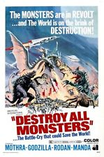 Destroy All Monsters Movie Poster Large 24inx36in