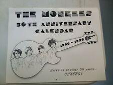 Monkees 1996 30th Calendar Davy Jones, Michael Nesmith, Micky Dolenz, Peter Tork