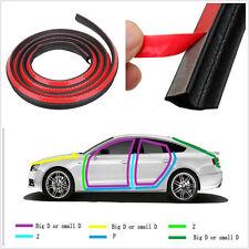 DIY 4m Black P-Type Autos Off-Road Door Exterior Weatherstrip Rubber Seal Strip