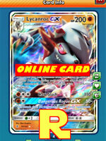 Lycanroc GX - Regular art - for Pokemon TCG Online (DIGITAL ptcgo in Game Card)