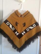 Southwestern Indian Poncho Horses and Velvet Decoration Blanket Stitch Fringe