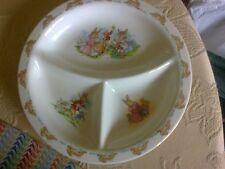 Unusual Bunnykins Triple Plate Perfect Condition