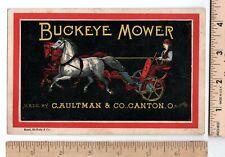 Farm Equipment BUCKEYE MOWER DOWN BINDER C. Aultman Co. Canton Ohio Trade Card