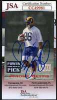 Jerome Bettis 1993 Power Draft Pick Rookie Jsa Coa Hand Signed Autograph