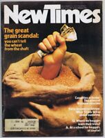 ORIGINAL Vintage New Times Magazine December 12 1975 Grain Scandal