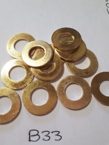 Brass Washer M8, Form A or B.  Pack 5