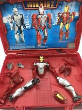 Mega Bloks Iron Man 2 Tri-Armor Suitcase #29675 Mark II, III V set Incomplete!