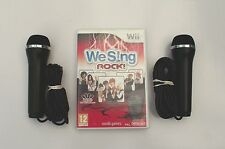 WE SING ROCK AND 2 KARAOKE MICROPHONES WII PAL