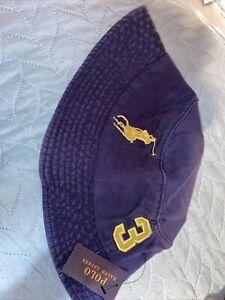 Navy Blue & Yellow Ralph Lauren Polo Bucket Hat