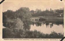 Postcard Lyman Lakes Carleton College Northfield Minnesota