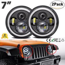 "Par 7"" inch LED Faros Impermeables para Jeep Wrangler Land Rover Camión JK TJ"