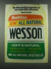 1985 Wesson Oil Ad - No Other Leading Oil