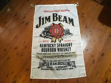jim beam black bourbon poster man cave bar ware pool room wallhanging shed flag