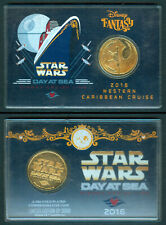 2016 Philippines STAR WARS DAY AT SEA Disney Gold Plated Commemorative Coin B