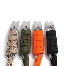 Outdoor Portable EDC Crowbar Pry Bar Stainless Steel Pocket Survival Tool