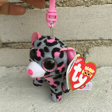 "new ty beanies boos Leopard Tasha plush clip on 3"" stuffed animal toy"