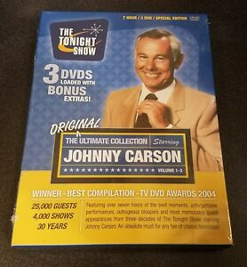 The Ultimate Collection Starring Johnny Carson (DVD, 3-Disc) Tonight Show NEW