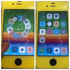 iOS 7 JAILBROKEN UNTETHERED Apple iPhone 4 Verizon 8gb CUSTOM YELLOW with CYDIA