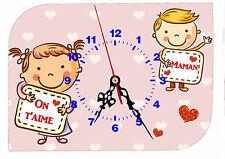 horloge fête des mères bonne fête maman avec prénom personnalisable réf FM 53