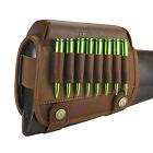 Tourbon Leather Rifle Cartridges Ammo Holder Buttstock Cheek Riser Rest Gun USA