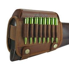 Tourbon Leather Rifle Cartridges Ammo Holder Buttstock Cheek Riser Rest Gun NEW