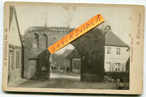 Kabinett-Foto um 1900 :  Königsberg in der Neumark , das Vierradener Tor