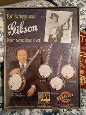 Signed Earl Scruggs Gibson Banjo Poster
