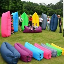 Inflatable Air Sofa Bed Lazy Sleeping Camping Bag Beach Hangout Couch Wind bed