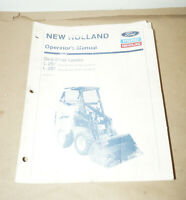 Ford New Holland Skid-Steer Loader L-250 L-255 Operator's Manual P/N 42025022