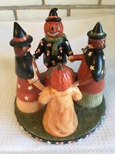 Yankee Candle Tealight Holder Exclusive Candy Corn Witches Pumpkins Jack Lantern
