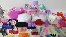 120+ Huge Barbie Doll Dollhouse Accessory Mixed Lot Pets Purses Diorama Everyday
