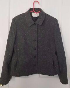 Evan Picone black & gray Wool blend blazer, Size 12