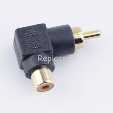 RCA Phono RIGHT ANGLE 90 Degree Adaptor Angled Composite Audio NICKEL Black