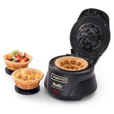 Belgian Waffle Bowl Maker 4 in. Nonstick Iron Kitchen Baker Breakfast Dessert