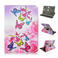 "Fits Zeepad Flytouch 10"" Tablet Pink Butterfly Flower folio CASE COVER"