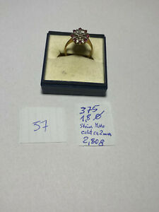 Ring aus 375er Gold mit echtem Stein