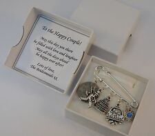 LUCKY SIXPENCE, WEDDING, BRIDE kilt pin, something blue, chimney sweep, BOXED