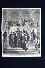 Gli ultimi istanti del doge Martin Faliero, Francesco Hayez Incisione del 1875