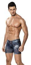 Clever Men's Denim Jean Look Microfiber Boxer Brief Underwear 2201