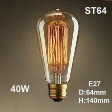 Edison Retro Vintage Lamps 40W Lampada Ad Industrial E27 220V Lights Bulbs ST64