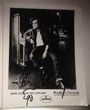 John Cougar Mellencamp Signed B&W Photo Autograph [ Rock Singer ]