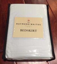 RAYMOND WAITES Rhapsody CAL KING BED SKIRT BEDSKIRT Aqua Green Tailored NWT
