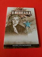 MARILYN MONROE WORN RELIC SWATCH CARD 2008 BASEBALL AMERICANA THREADS #d 46/250