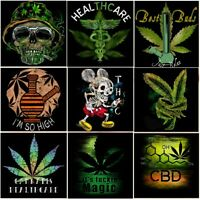 SATIVA LEAF BOB MARLEY SATIVA INDICA cannabis mary J WEED Pot 420 KUSH T SHIRT