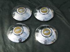 4-50's 60's CHEVY PICKUP TRUCK OEM WHEEL HUBCAPS-BABY MOON-HUB CAP CAPS BELAIR
