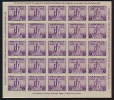 U. S. Scott #731 (Sheet of 25) Extra Fine Centering (No Gum As Issued) CV:$20.00